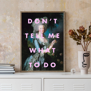 FEMINIST Canvas Painting Poster Gifts Gift Funnty Song Lyrics Don't Tell Me What to Do Prints Woman Room Wall Art Picture Decor