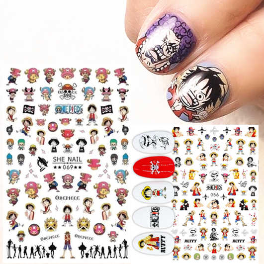 Serie Een Stuk Ruggy Cartoon-69 3d Nail Art Stickers Decal Template Diy Nail Tool Decoraties