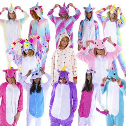 Pajamas Kigurumi unicorns star, pink, зефирный, мармеладный, white, blue, pink, costumes sleepwear women and men.
