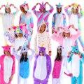 Pijama Kigurumi unicórnios estrela, rosa, зефирный, мармеладный, branco, azul, rosa, trajes sleepwear mulheres e homens.