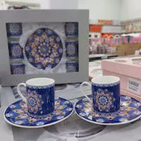 12pcs Luxury Turkish Arabic Coffee Cups High Quality Porcelain Turkish Tea Coffee Espresso Cup Mug Ceramic Set Made İn Turkey