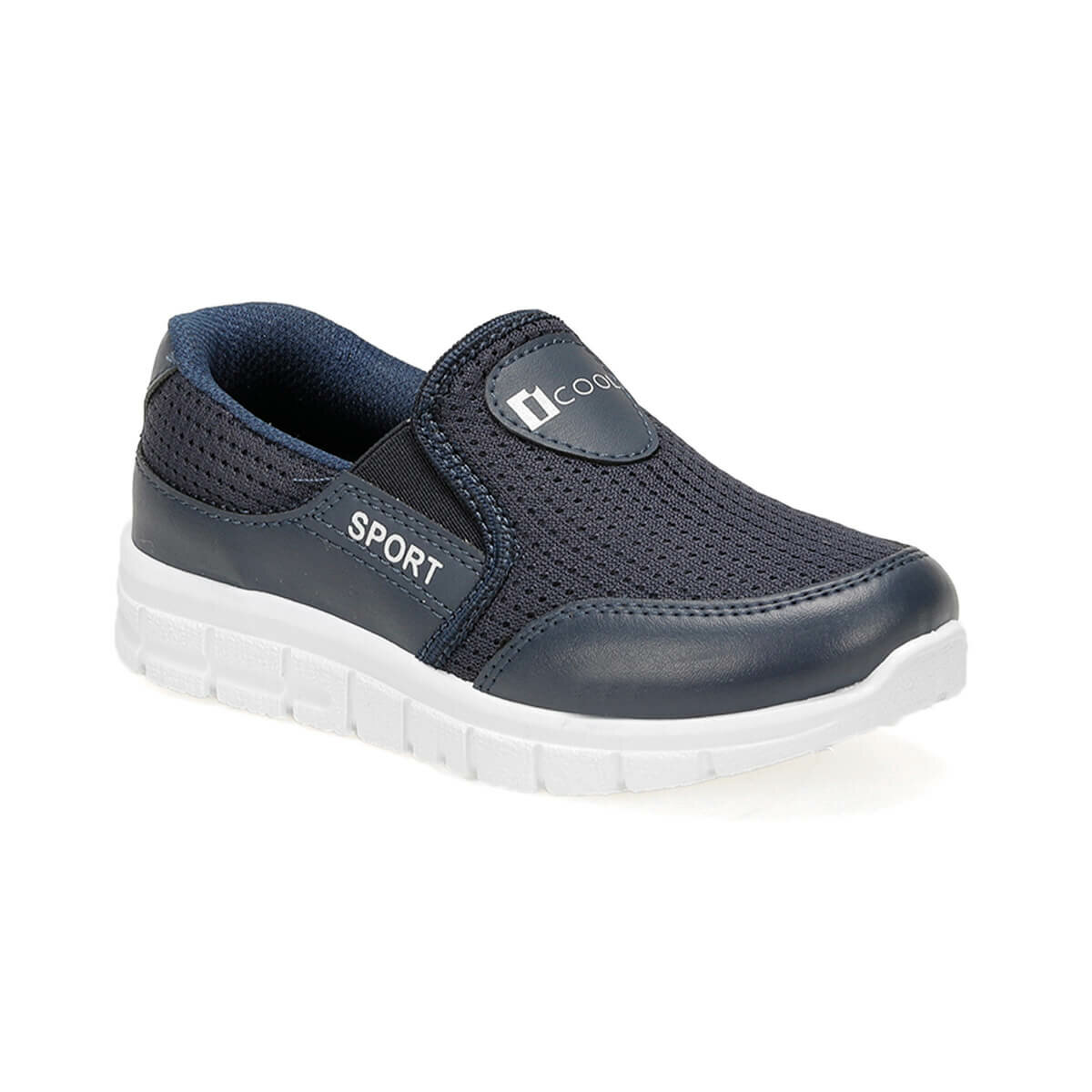 FLO BLUE Navy BLUE Male Child Hiking Shoes I-Cool
