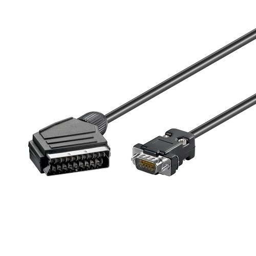 CABLEPELADO Cable Scart Macho Vga Macho 2 M Negro