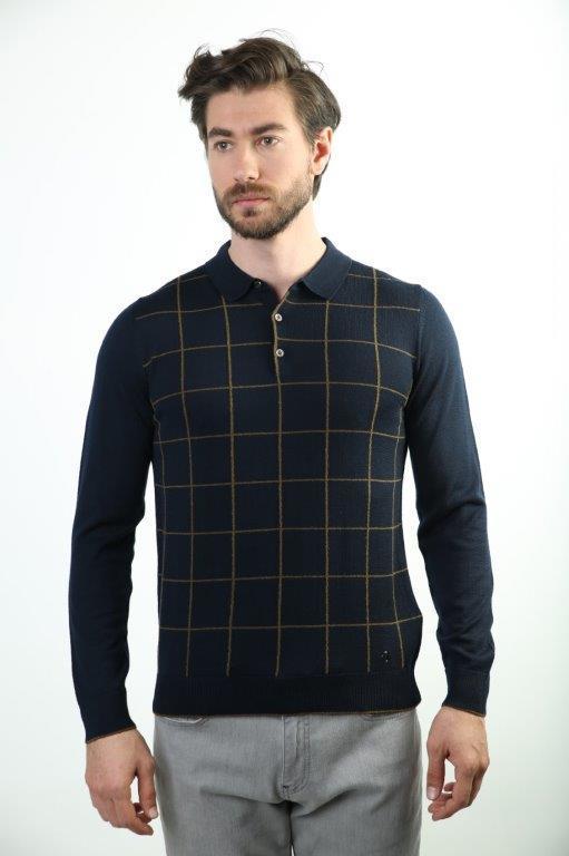 Sweater Polo Collar Men 'S Wool Sweater 3954