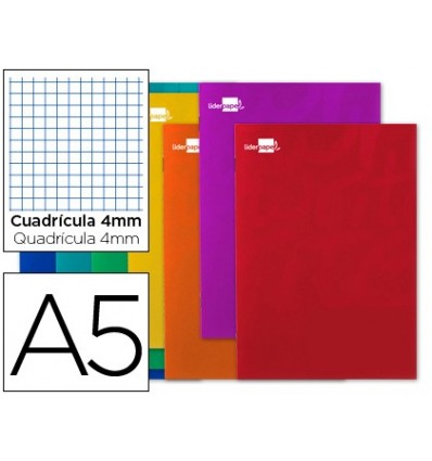 NOTEPAD LEADERPAPER WRITE A5 80 SHEETS 60G/M2 FRAME 4MM WITH M ARGEN 5 Pcs