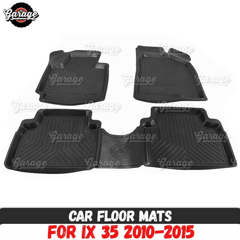 Tailored Car Floor Mats Set of 4 Fits Hyundai Tucson 2015 Rubber Carpet