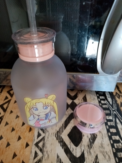 RUIDA Sailor Moon Transparent Plastic water Bottle Cartoon Frosted water Bottles Leak proof Drinkware Cute Student Girl Gift Cup|Water Bottles|   - AliExpress