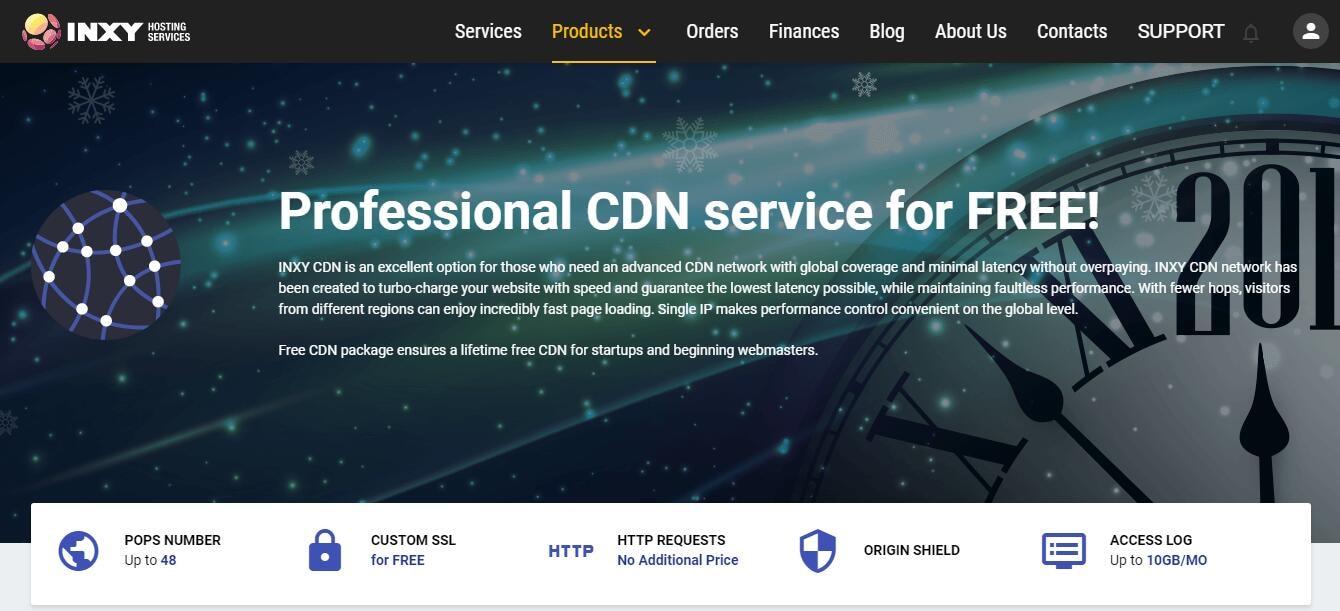 Inxy.host:提供 免费CDN / 免费2个月VPS / 30SSD 1G1H VPS 5$