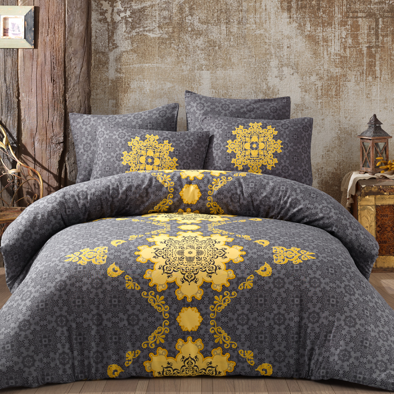 LadyModa Saltanat Luxury Bed Linen Cotton Set Ranforce Bedding Set Twin/Full/Queen/King Size 3/4/5 Pcs Bed Sheet Duvet Cover Set