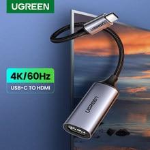 Ugreen USB C kabel HDMI typ C do HDMI Thunderbolt 3 Adapter do MacBook Samsung Galaxy S10/S9 Huawei Mate 20 P20 Pro USB-C HDMI
