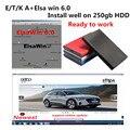 2021 Горячие Авто Ремонт программного обеспечения ElsaWin 6,0 и E/T KA v8.2 работу для V-W для Audi авто ремонт программного обеспечения Эльза Win 6,0 в 250 Гб hdd