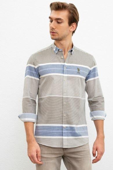 U.S. POLO ASSN. Reported Slim Shirt