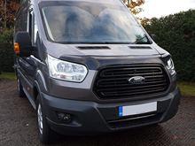 Deflectores de capó negro a medida de Van Demon, capó acrílico, Protector de piedra, Protector de insectos para Ford Transit MK8 (2014 on)