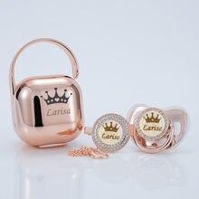 MIYOCAR personalisierte rose gold bling schnuller und clip schnuller box set BPA FREI dummy Luxus