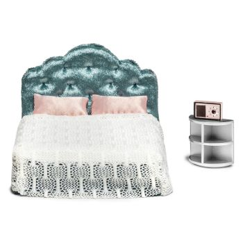 Doll House Accessories Lundby  Set of furniture for house Bedroom for children toys for kids game furniture dolls doll houses furniture for doll houses bed for dolls accessories five houses of zen