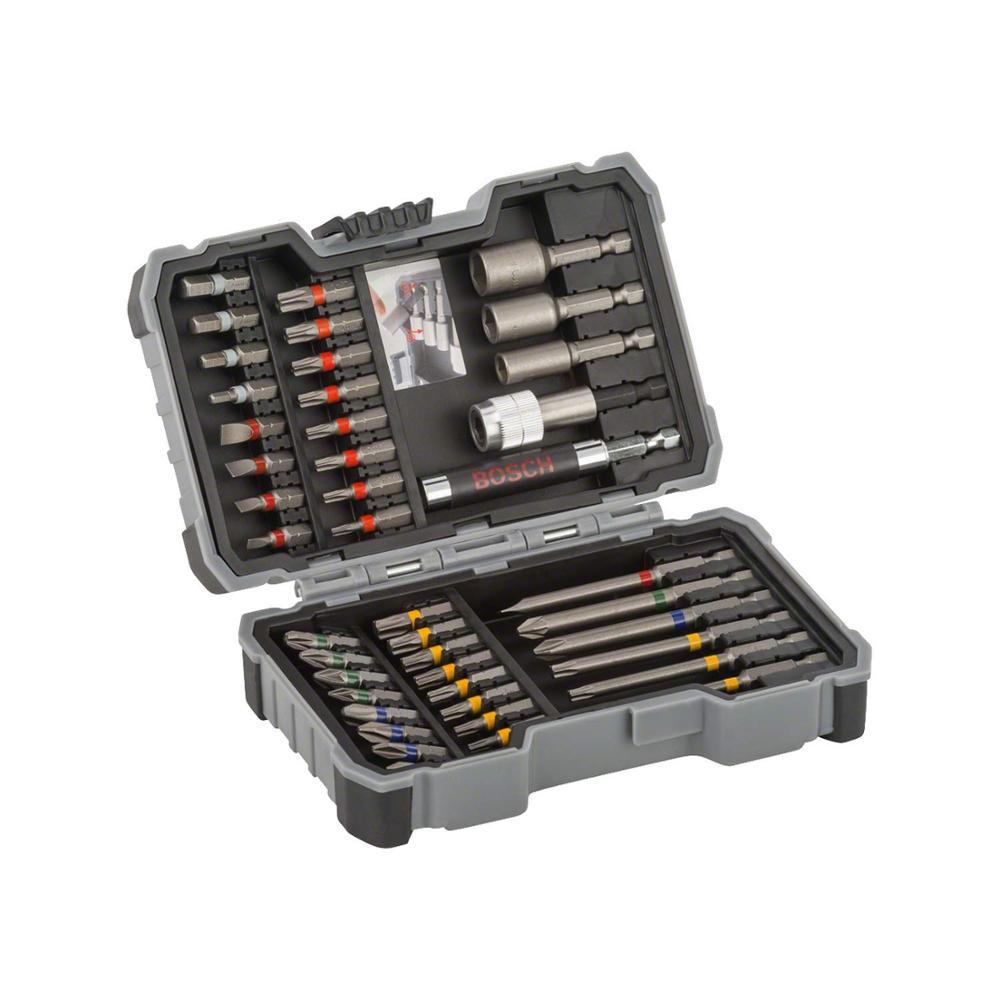 Pack juego con puntas atornillar y llaves vaso con 43 piezas de la marca BOSCH