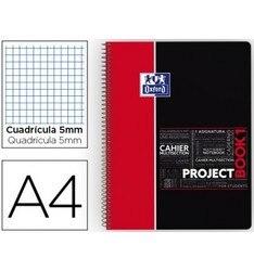 Блокнот спираль Оксфорд пластиковый колпачок микроперфорированный PROJECTBOOK1 DIN A4 80 листов 90 фотографий 5 мм красный приложение