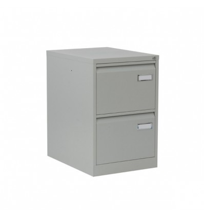 FILING CABINET METAL 2 DRAWER RAL 7035 GRAY MEASUREMENT: 47x71,1x62,2cm (long X High X Deep)