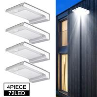 Solar Lichter Outdoor Garten 16/72 LED Außen Motion Sensor Wand Lichter Für Terrasse Außerhalb Lampe Veranda Terrasse