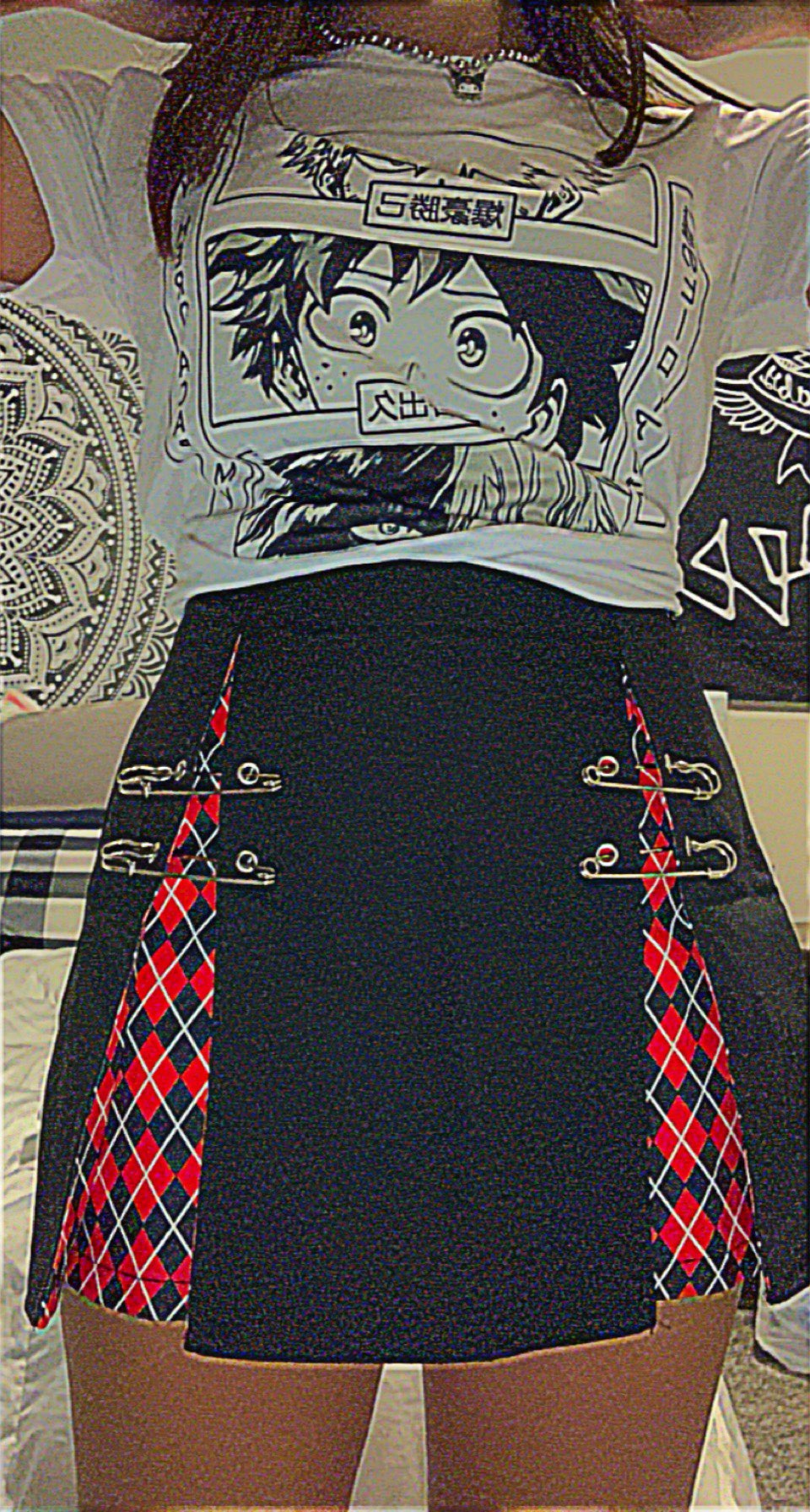 A-Line Gothic Skirt with Plaid inserts photo review