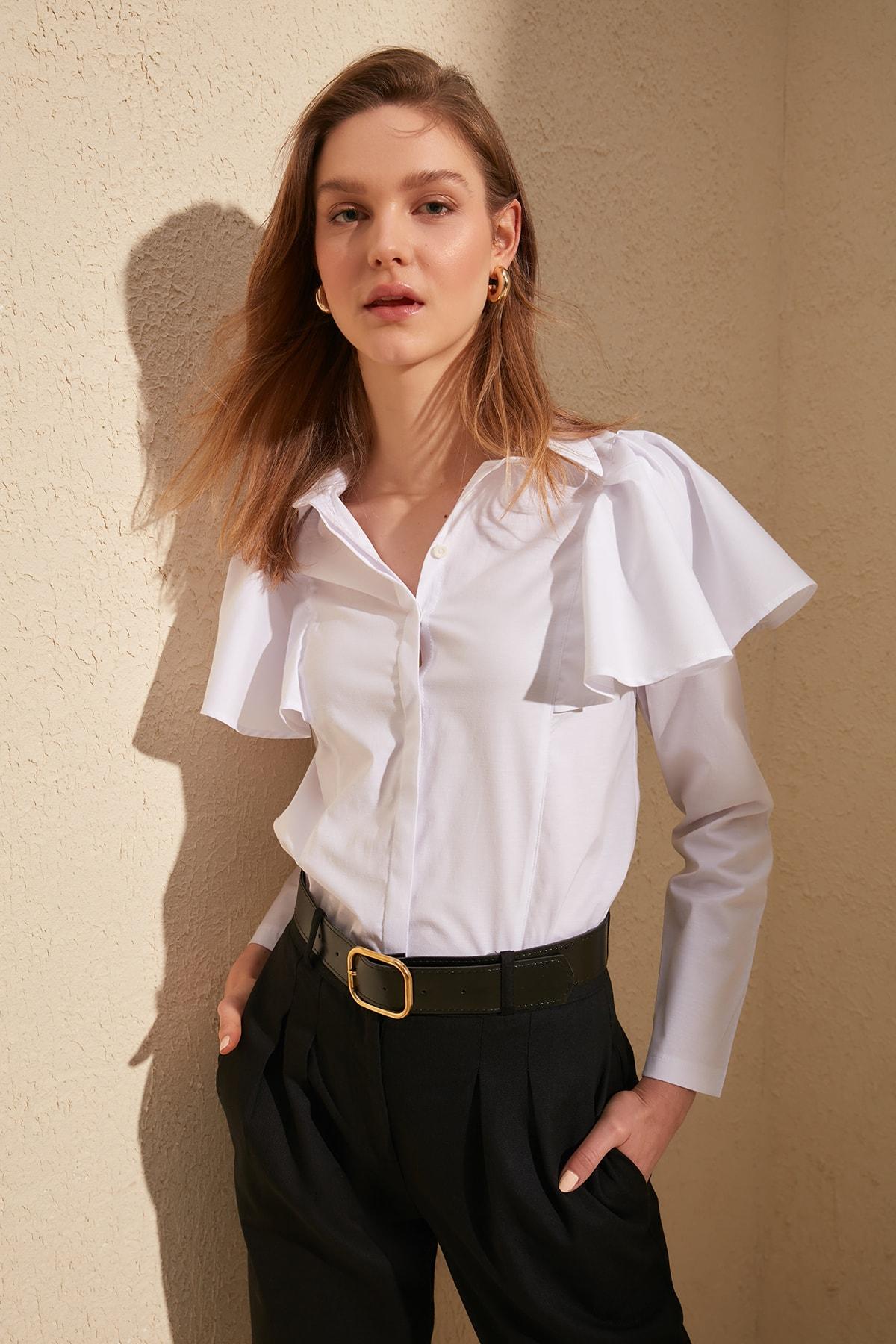 Trendyol Shoulder Detail Shirt TWOSS20GO0040
