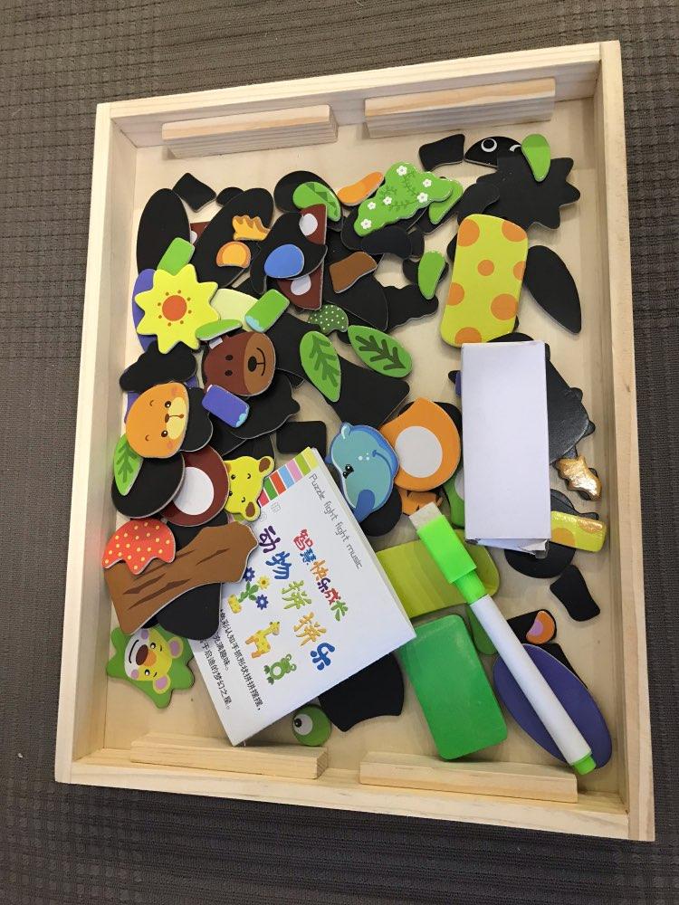 Puzzle éducatif magnétique en bois