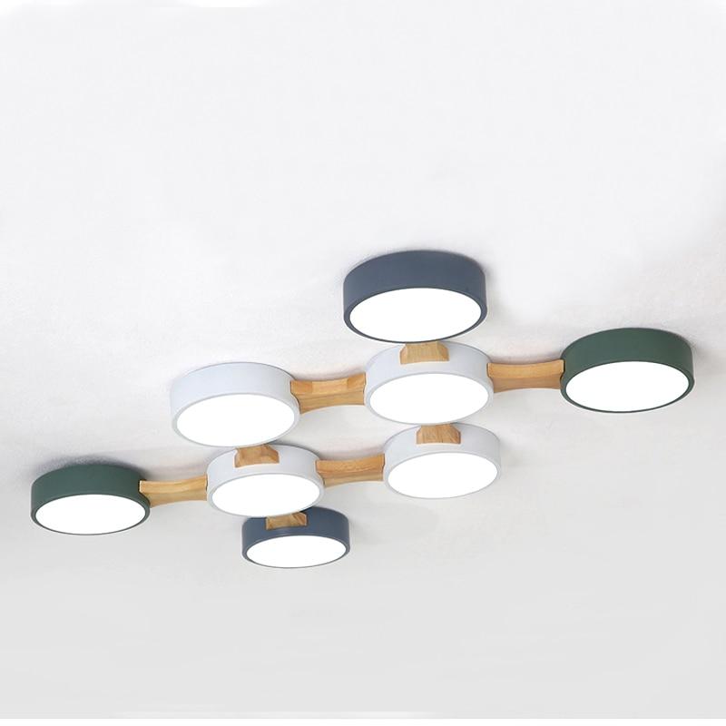 Светодиодный потолочный светильник 220V круглый металлический абажур Nordic современный минималист люстра поверхности украшений гостиная, спа...
