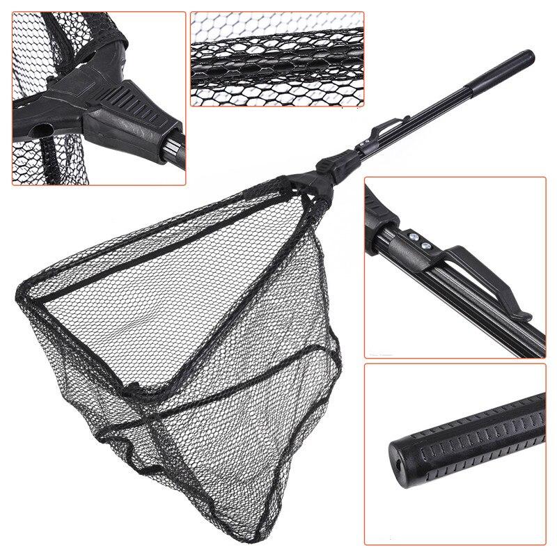 dobravel triangular com mosca pesca net peixes captura ou liberacao s m 05