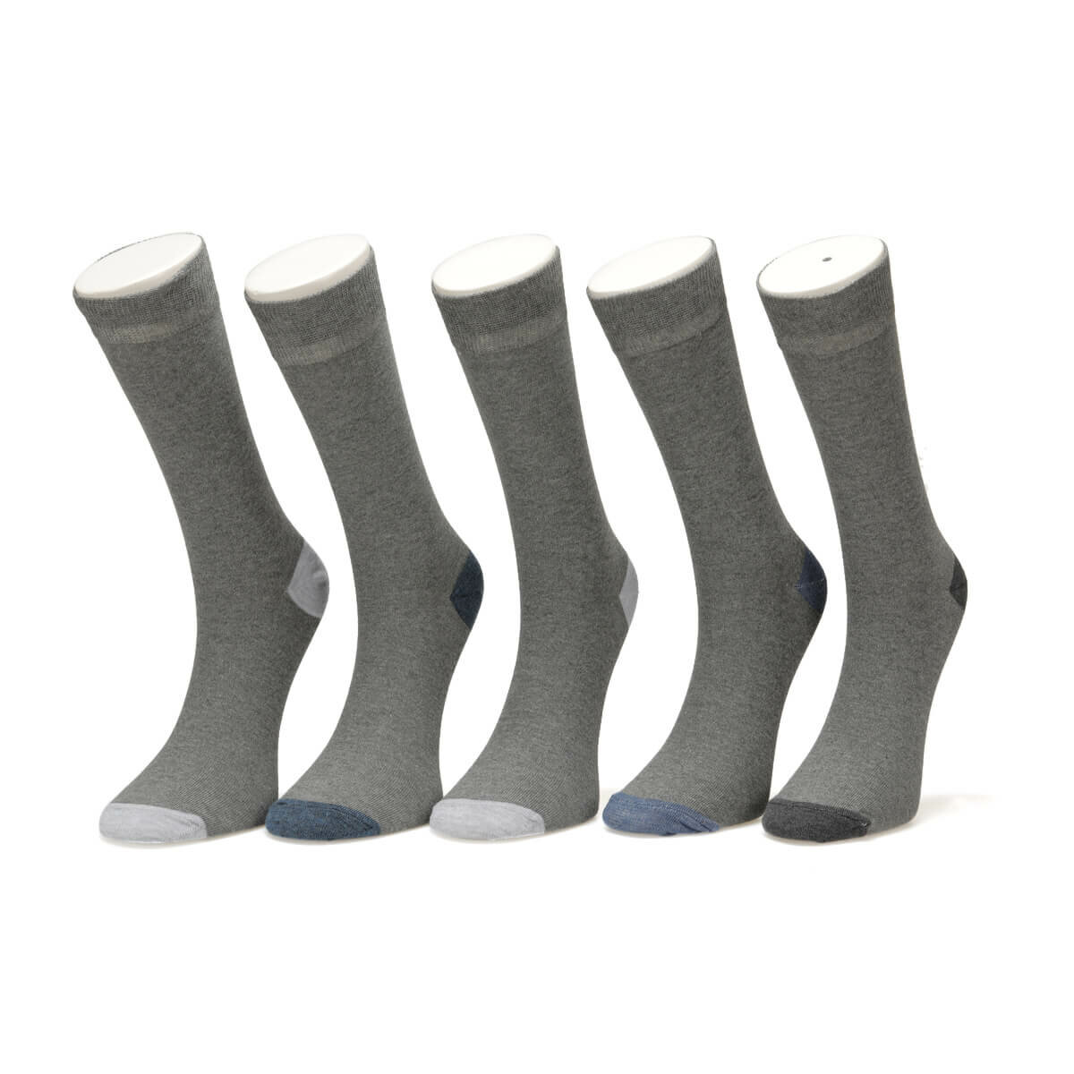 FLO COLOR 5 LI SKT-M GRAY MULTI Male Socket Socks Garamond