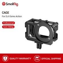 SmallRig klatka dla DJI Osmo działania (kompatybilny z Adapter do mikrofonu) klatka operatorska z zimna butów mocowania 2475