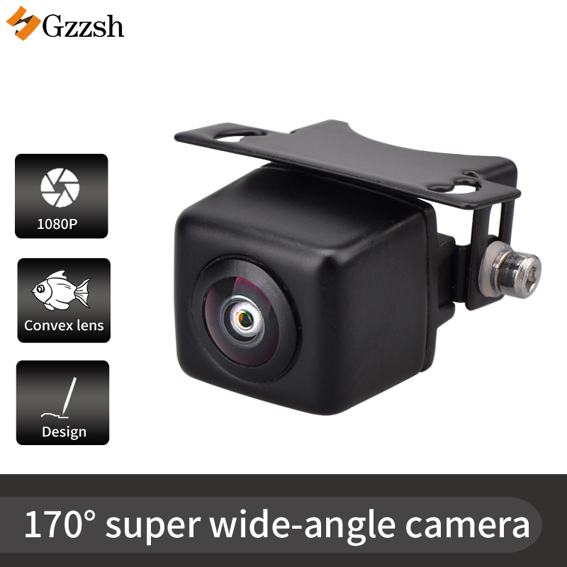 Rear View Camera Ultra Wide Angle 170° Car Universal Rear View Stainless Steel Case 69K Waterproof Super Night Vision CCD Camera
