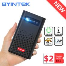 BYINTEK P20 przenośny Pico inteligentny Android Wifi 1080P 4K TV lAsEr Mini LED projektor kina domowego telefon DLP dla mobilnego kina 3D tanie tanio Auto Korekty Instrukcja Korekta CN (pochodzenie) 0 5KG 854x480 dpi Rozrywki Projektora Brak 280 ANSI lumens 0 2-4 56m 30inch-150inch