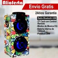Bluetooth Speaker Powerful Portable Large Power 20W MP3 / Radio / USB with Led Light Cheap Control Knob