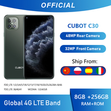 Cubot C30 48MP Quad AI aparat 8GB + 256GB 32MP smartfon do Selfie globalny 4G LTE Helio P60 NFC 6 4 Cal FHD + 4200mAh Android 10 tanie tanio Nie odpinany CN (pochodzenie) Rozpoznawania twarzy Inne MCharge Smartfony Pojemnościowy ekran Angielski Rosyjski Niemiecki