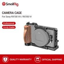 SmallRig RX100 VII kamera kafesi Sony RX100 VII ve RX100 VI Dslr kafes ahşap yan kol/soğuk ayakkabı RX100 VI kafesi 2434