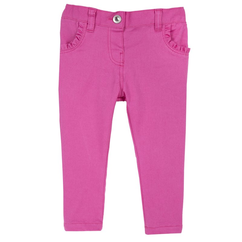 Pants Chicco, size 086, color pink coat color pink