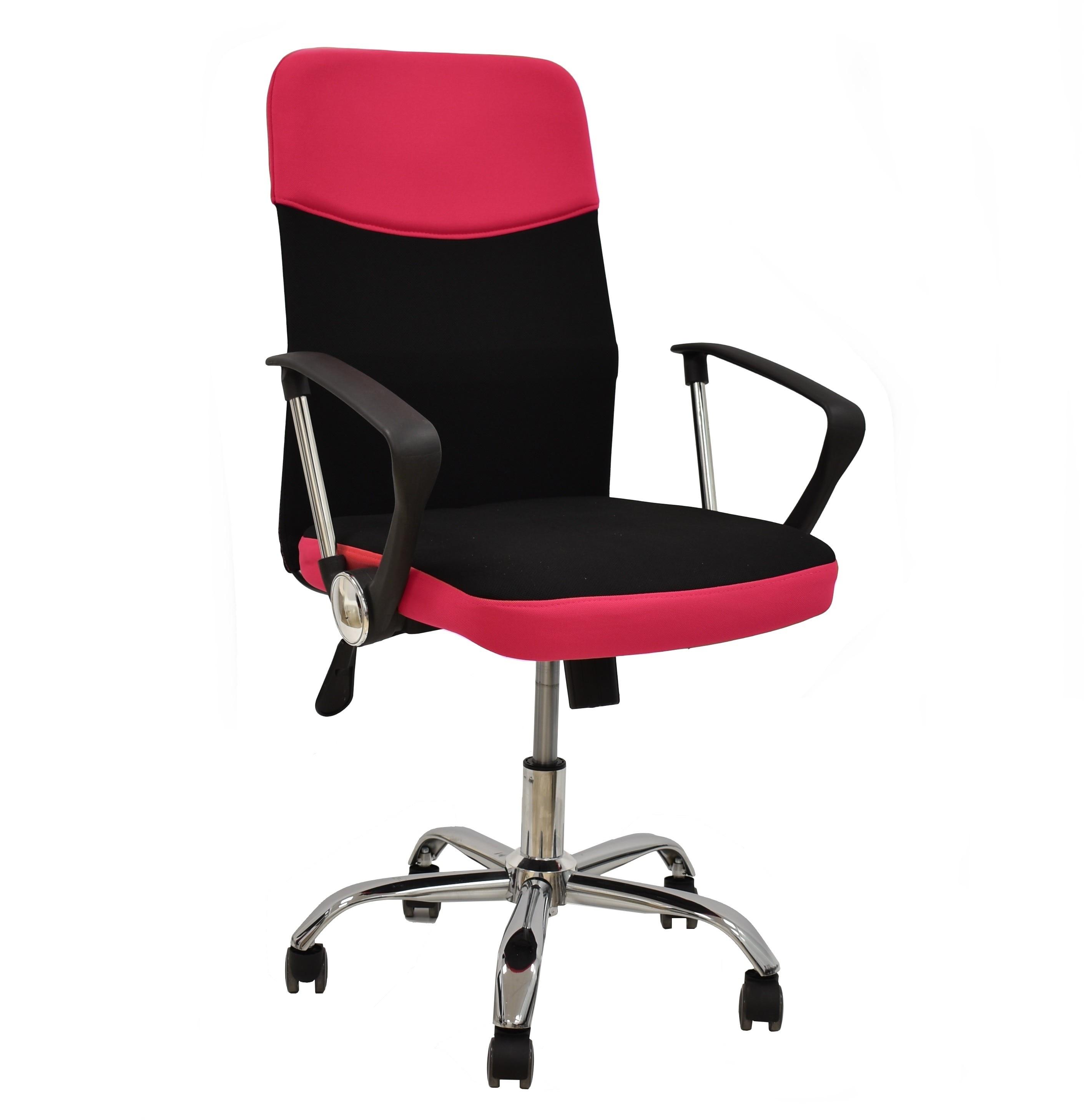 Office Armchair TANGO, Gas, Tilt, Fabric Black-pink