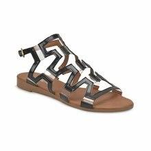 FLO negro mujer 2020 verano Vintage Sandalias hebilla Casual costura mujeres Retro Sandalias mujeres damas plataforma zapatos mujer vestido Miss F DS18060