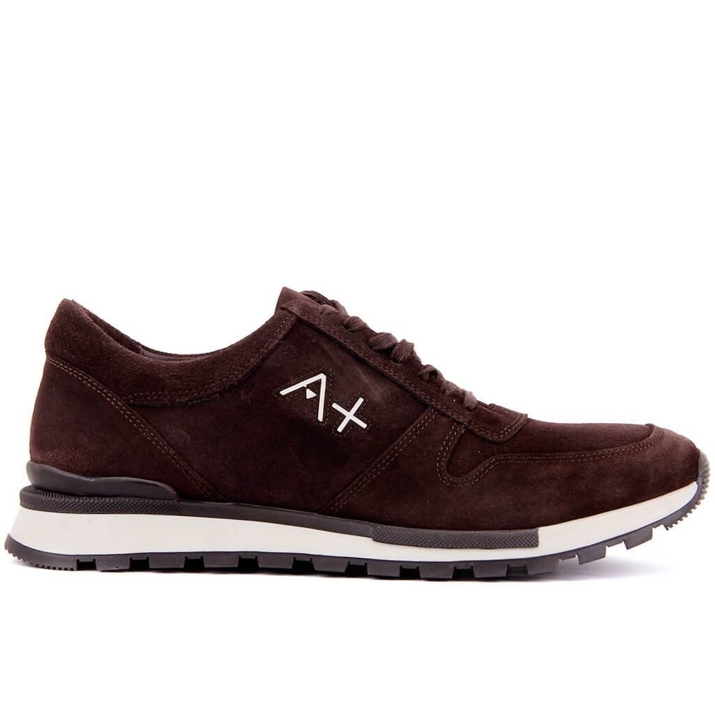 Sail Lakers-Brown Suede Leather Men 'S Casual Shoes
