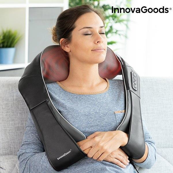 Innovagoods Shiatsu Pro Massaki masseur 24W 8 tête ergonomique rotative et bidirectionnelle cou, dos, lombaire et jambes 24 langues