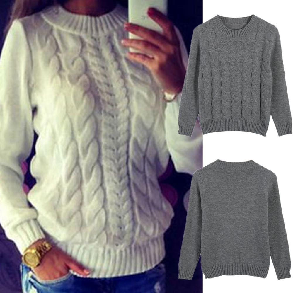 Womens Wool Blend Sweaters Ladies Winter Twist Knitted Jumper Pullover Top Knitwear Bottoming Sweater Tunic Jersey Mujer