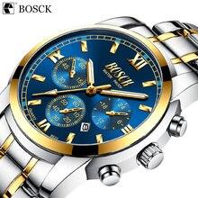 Bosck мужские модные повседневные кварцевые часы с римским циферблатом