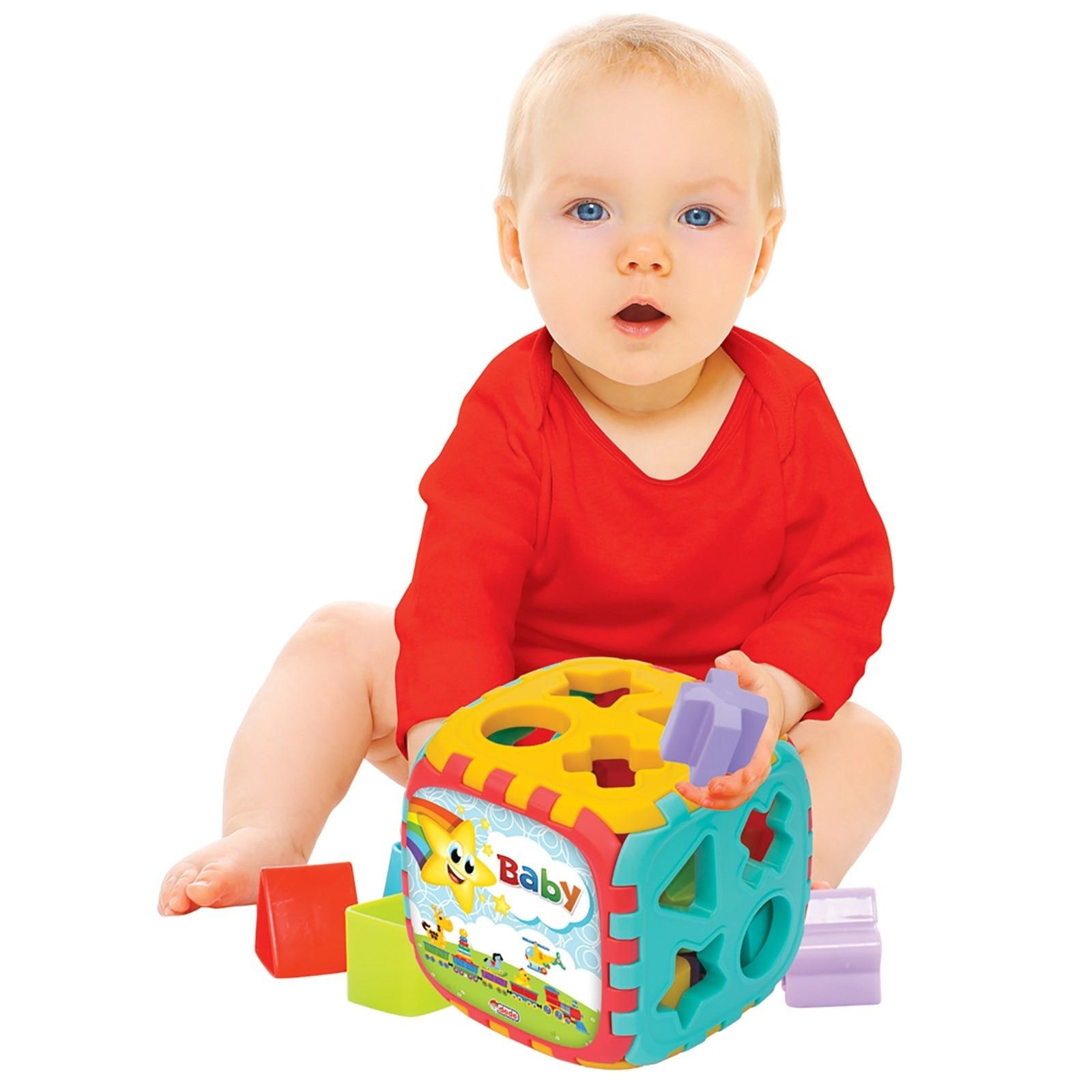 Ebebek Fen Oyuncak Baby Puzzle Big Shape Sorter Cube