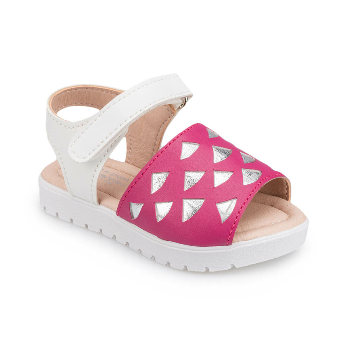 FLO 91.511047.B Fuchsia Girls Child Sandals Polaris