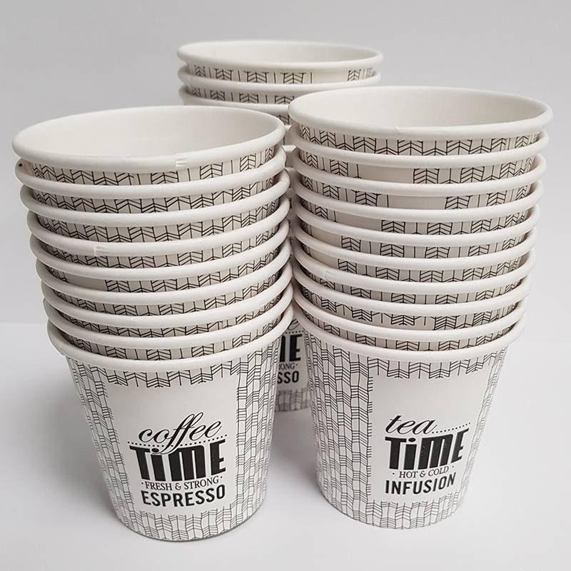 Paper Cup 100cc 4 Ounces 50 PCs Coffee Time