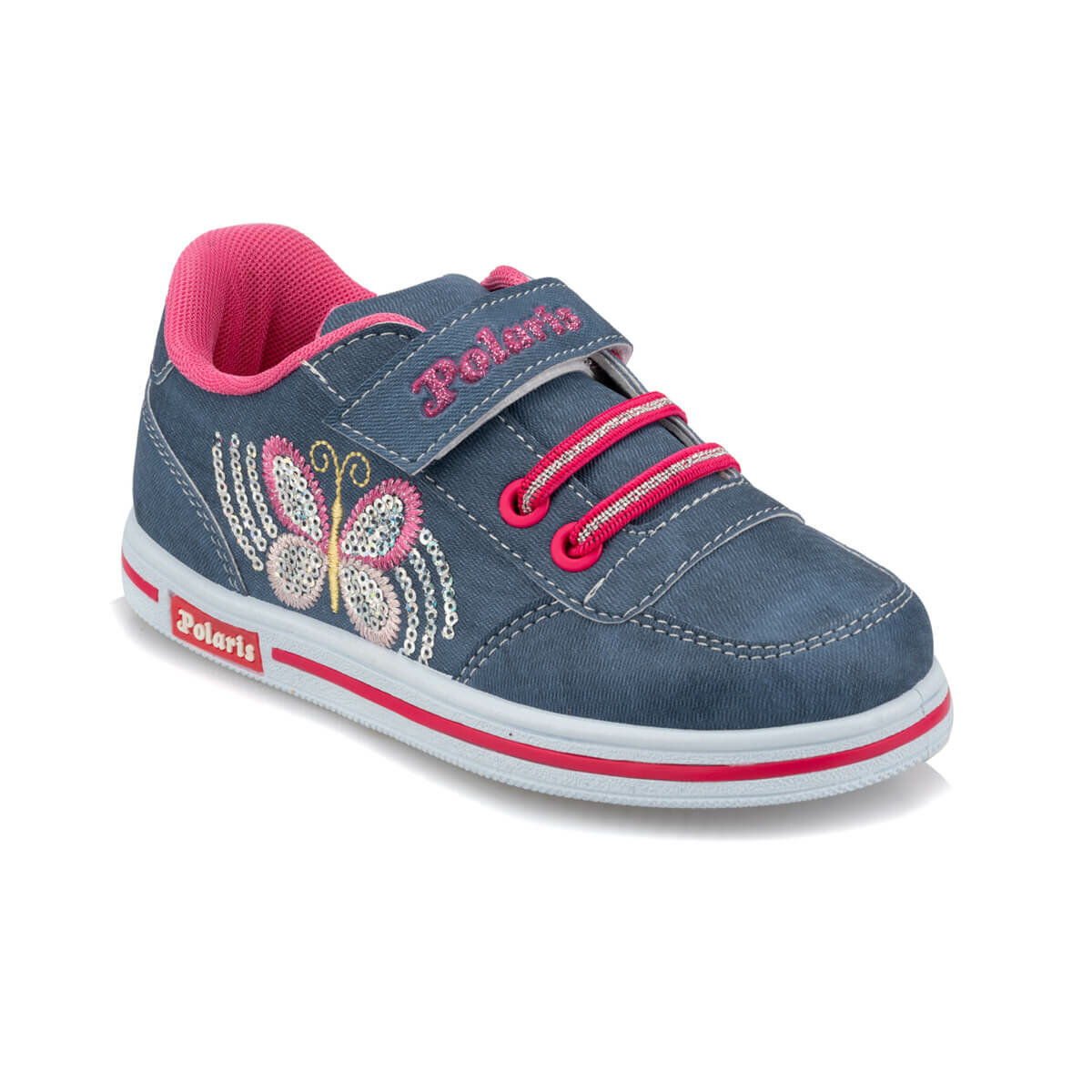 FLO 92.509799.P Navy Blue Female Child Sneaker Shoes Polaris