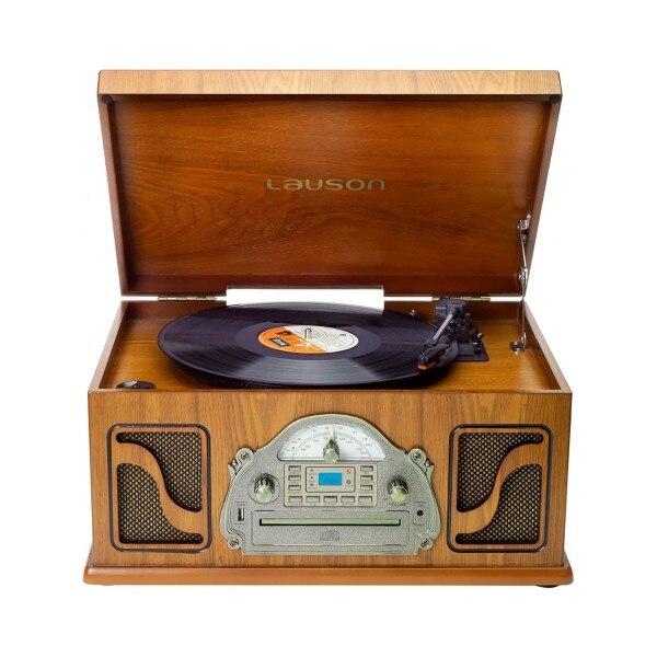 Lauson ivx22 platine vinyle classique bois cd rayon enregistrement numérique mp3 bluetooth vinyle