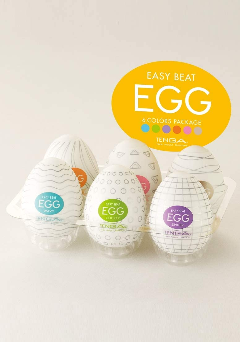 TENGA Egg Masturbator PACK 6 Models Package Standard Variety Of Devices From Pleasure For Men