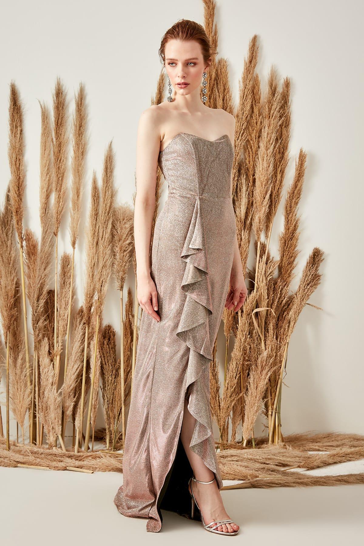 Trendyol Flywheel Detailed Luminous Evening Dress TPRSS19UT0056