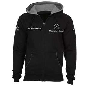Mercedes AMG Hooded Fleece Full Zip Black Sweatshirt